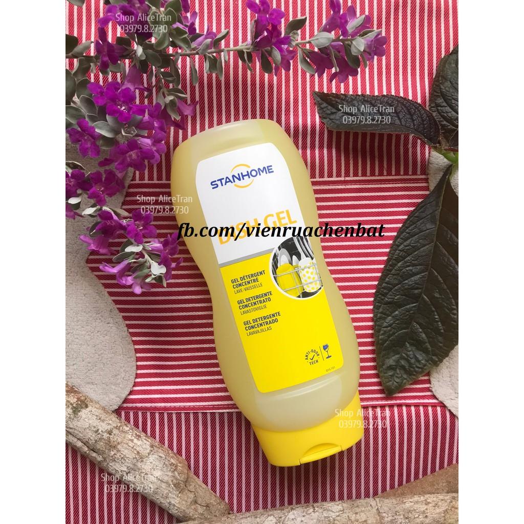 Gel rửa chén bát All In 1 (dùng cho máy rửa chén bát) - Stanhome dish gel 720ml