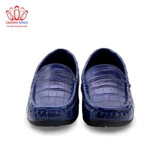 [Mã KIDMALL15 hoàn 15% xu đơn 150K] Giày lười bé trai Crown UK Space George Louis Boat cruk418