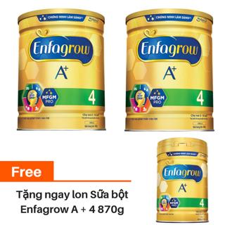 Hình ảnh [Mua 2 tặng 1] Combo 2 lon Sữa bột Enfa A+ 4 1750g/lon tặng 1 lon Enfa A+ 4 870g-0