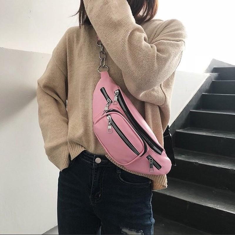Túi bao tử đeo chéo da nhiều màu Hot Trend