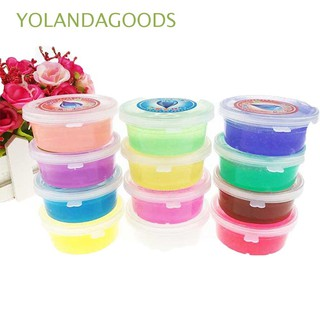 🍊12PCS Colorful Intelligent Magic Toys Environmental Non-toxic Crystal Mud