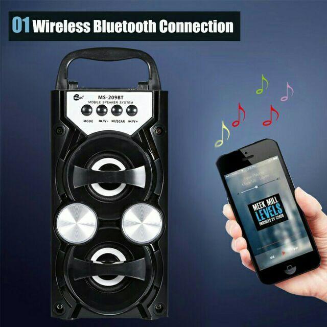 Loa Bluetooth MS-209BT âm thanh chuẩn