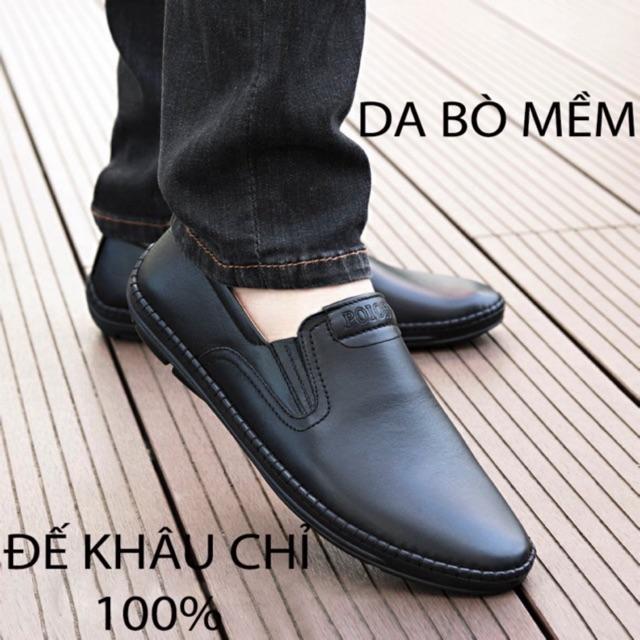 ( 2 MÀU) Giày lười nam Boss da bò chất đẹp - hàng xuất khẩu