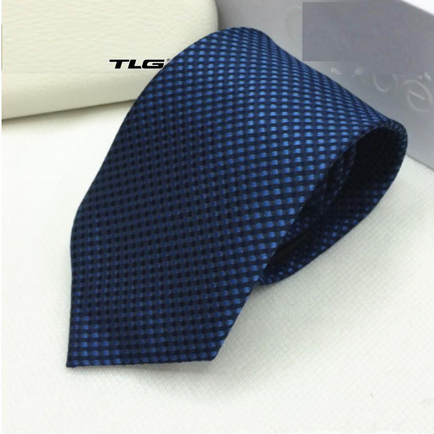 Cà vạt lụa TI bản vừa TI 009 1 (Xanh) tặng móc khóa da thật cao cấp M 550