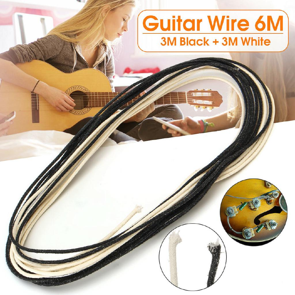 6M Cloth Pickup Wire Stranded Core Building And Electronic Guitar Wiring 22 AWG