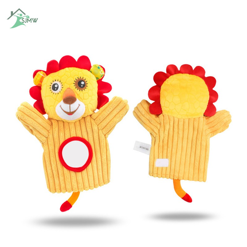 SJMW Stuffed Animal Activity Puppet Soft Plush Polyester Fabric With Mirror for Kids Parents