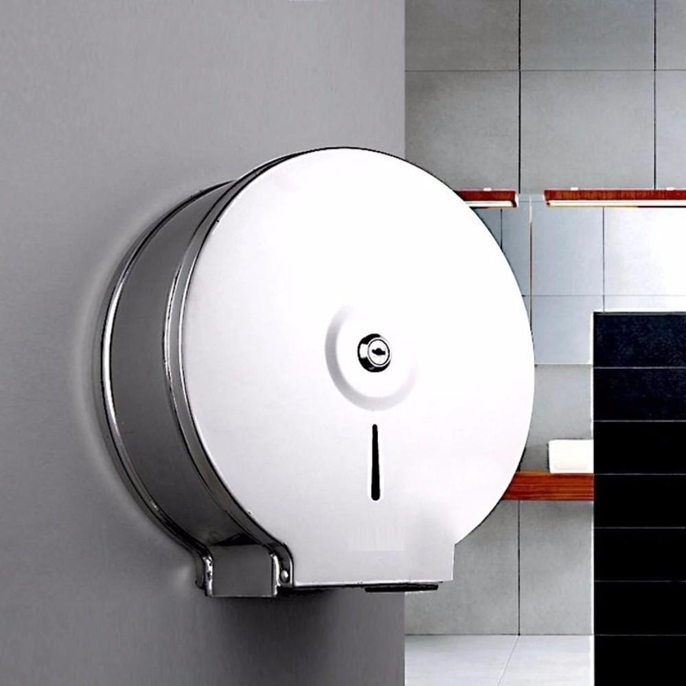 Hộp đựng giấy vệ sinh cuộn lớn thép không gỉ (INOX) Cao cấp TI843