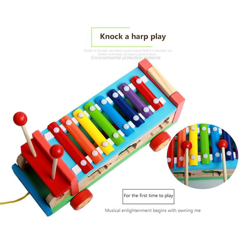 Đồ Chơi Giáo Dục Đàn Piano Điện Tử Bằng Gỗ Hình Động Vật Cho Bé
