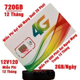 [FREE 12 THÁNG] V120 Trọn gói 1 năm 720GB/12 Tháng và miễn phí gọi