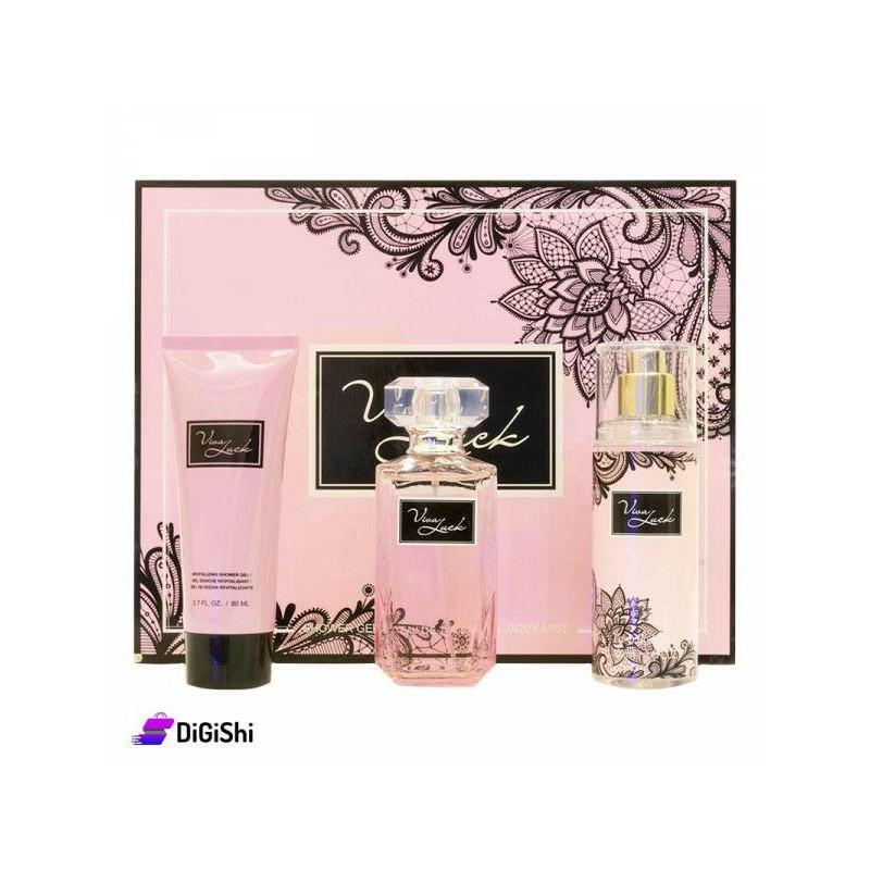 Set quà tặng nước hoa 3 món Viva Luck siêu xinh ( nhiều mẫu)