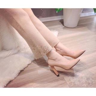 Sỉ rẻ Giày cao gót mũi nhọn gót vuông thanh xuất hàn xịn đẹp ( cao 8cm) thumbnail