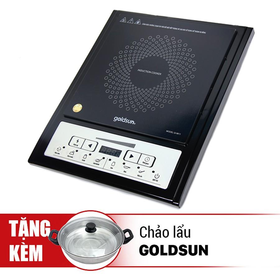Bếp điện từ Goldsun GI-M11 (2000W) tặng chảo lẩu 26 cm - 2713496 , 951138095 , 322_951138095 , 520000 , Bep-dien-tu-Goldsun-GI-M11-2000W-tang-chao-lau-26-cm-322_951138095 , shopee.vn , Bếp điện từ Goldsun GI-M11 (2000W) tặng chảo lẩu 26 cm