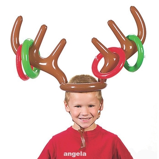 Gift Kids PVC Party Holiday Faux Antler Funny Santa Game Toys