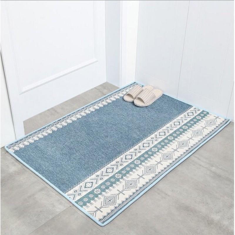 Thảm chùi chân thảm lau chân thêu  dệt size 50 x80 cm