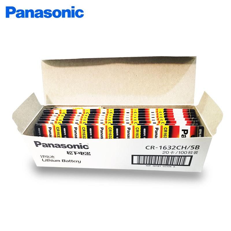Vỉ 5 Viên Pin Khuy Cúc Áo Panasonic CR2032 - CR2025 - CR2016 - CR1632 - CR1620 - CR1616 - CR1220 3V Lithium