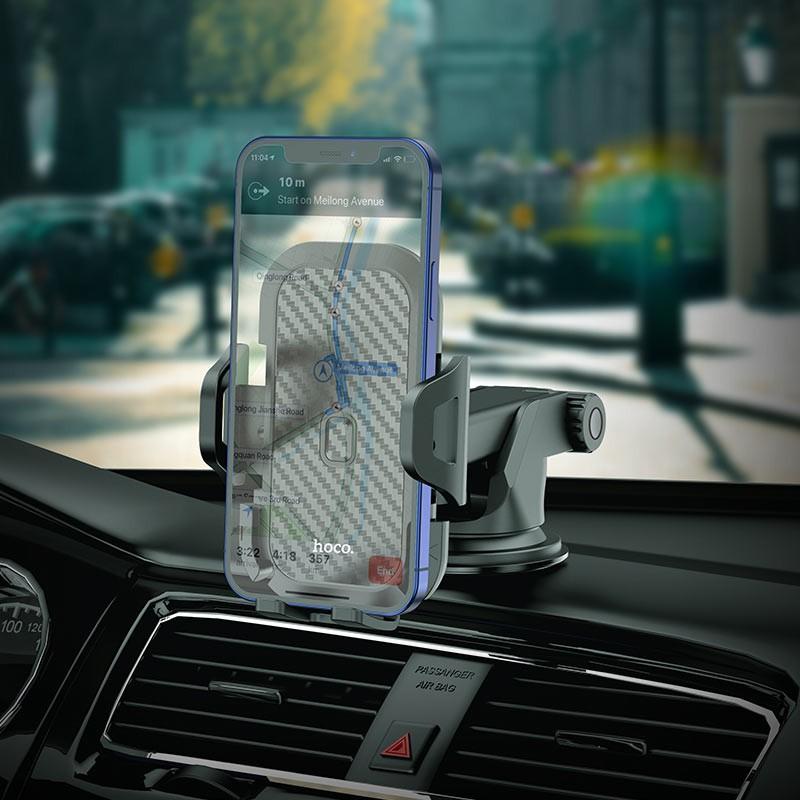 Giá đỡ điện thoại trên oto xe hơi cao cấp Hoco CB76 - vienthonghn