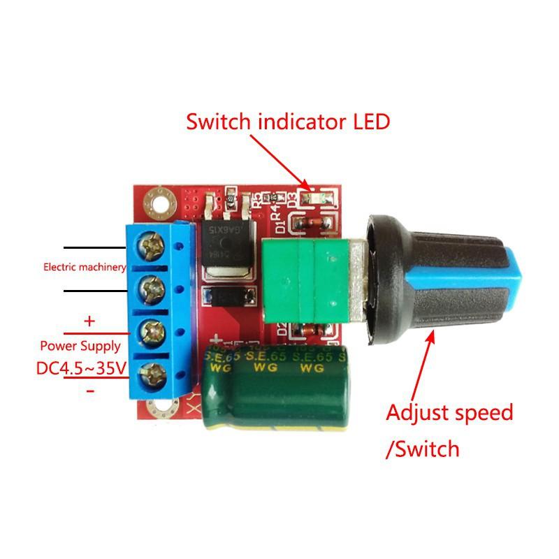 Công tắc điều khiển tốc độ 5V-35V 5A 20khz LED PWM DC