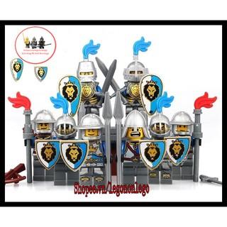 Minifigure lính trung cổ quân đội BLUE LION