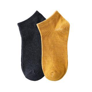 [Mã FASHIONCB94 giảm 10k đơn 0đ] Vớ cotton cổ thấp thiết kế phong cách thể thao nhiều màu trơn tùy chọn chất lượng 4