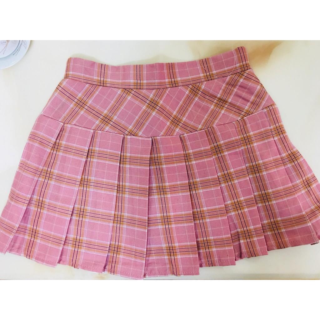 Chân váy xếp ly Quảng Châu (100% hình thật nhà Chinh)