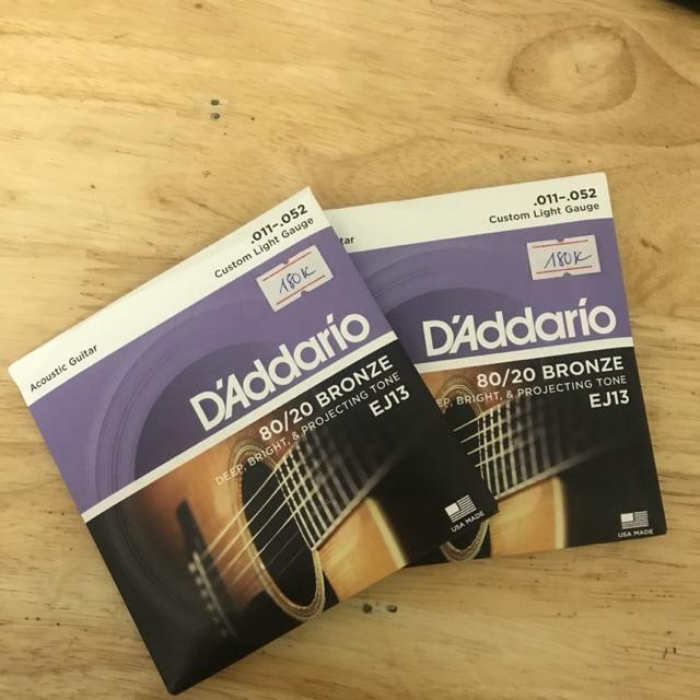 Dây đàn guitar DAddario EJ13, dây đàn D-Addario chính hãng