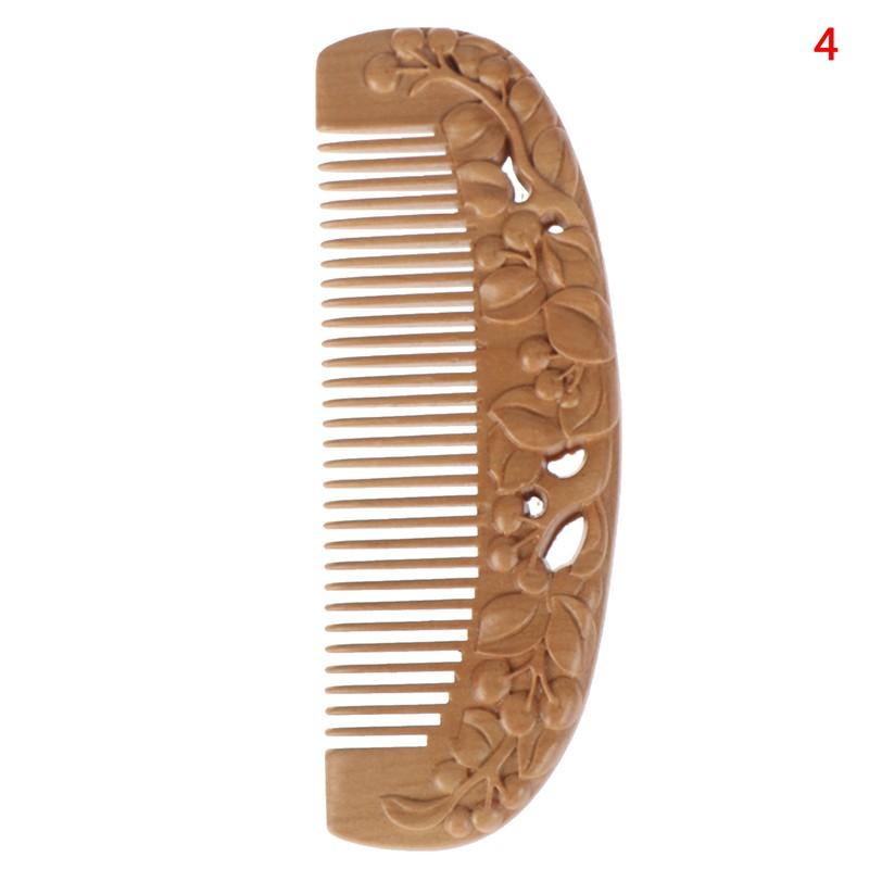 [Hàng mới về] Lược gỗ đào tự nhiên chống tĩnh điện mát xa da đầu