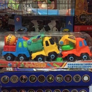 Bộ 3 xe công trình nhựa an toàn