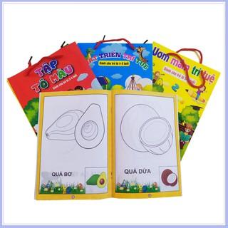 Set 8 Bộ Tranh tô màu nhiều chủ đề cho bé