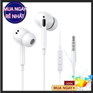 Tai nghe có dây 320 âm thanh cực êm  loại nhét tai kết nối dây có mic cổng 3.5mm.
