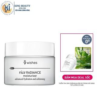 Kem dươ ng ẩm trắng da va chô ng la o ho a 9 Wishes Rice Radiance Cream 50ml thumbnail