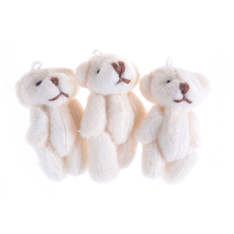 5pcs 4.5cm Mini Joint Bear Teddy Cartoon Bouquet Bag Wedding Ornament Plush Toy
