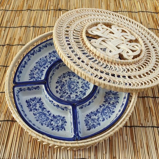 Khay bày bánh kẹo mứt tết đồ ăn gốm sứ Bát Tràng cao cấp - 22357981 , 2903542259 , 322_2903542259 , 450000 , Khay-bay-banh-keo-mut-tet-do-an-gom-su-Bat-Trang-cao-cap-322_2903542259 , shopee.vn , Khay bày bánh kẹo mứt tết đồ ăn gốm sứ Bát Tràng cao cấp