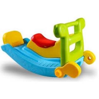 Cầu trượt 2 chức năng , lật lên là cầu trượt , úp xuống là bập bênh , k phải cồng kềnh khi di chuyển , nhựa an toàn ####