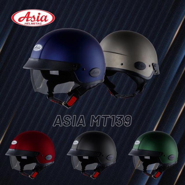 [CHÍNH HÃNG] [BH 12T] Mũ bảo hiểm ASIA MT139 kính âm
