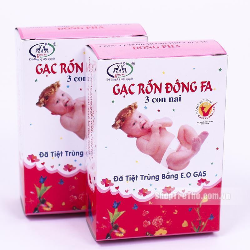 10 hộp gạc rốn Đông Pha Loại 1 cho bé