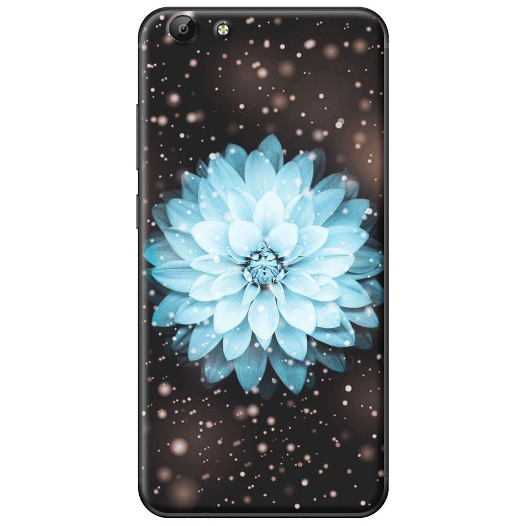 Ốp lưng Vivo Y69/Y55/Y53/V5/V5 Plus - nhựa dẻo Hoa cúc xanh dương