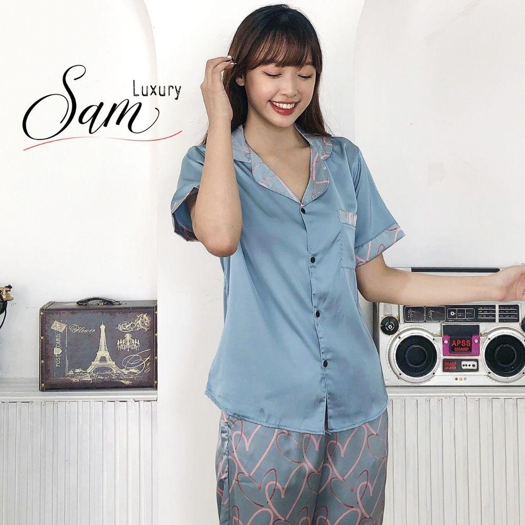 Mặc gì đẹp: Ngủ ngon hơn với Đồ ngủ nữ hàn quốc, mặc ở nhà, chất liệu lụa latin mềm mịn, Sam luxury