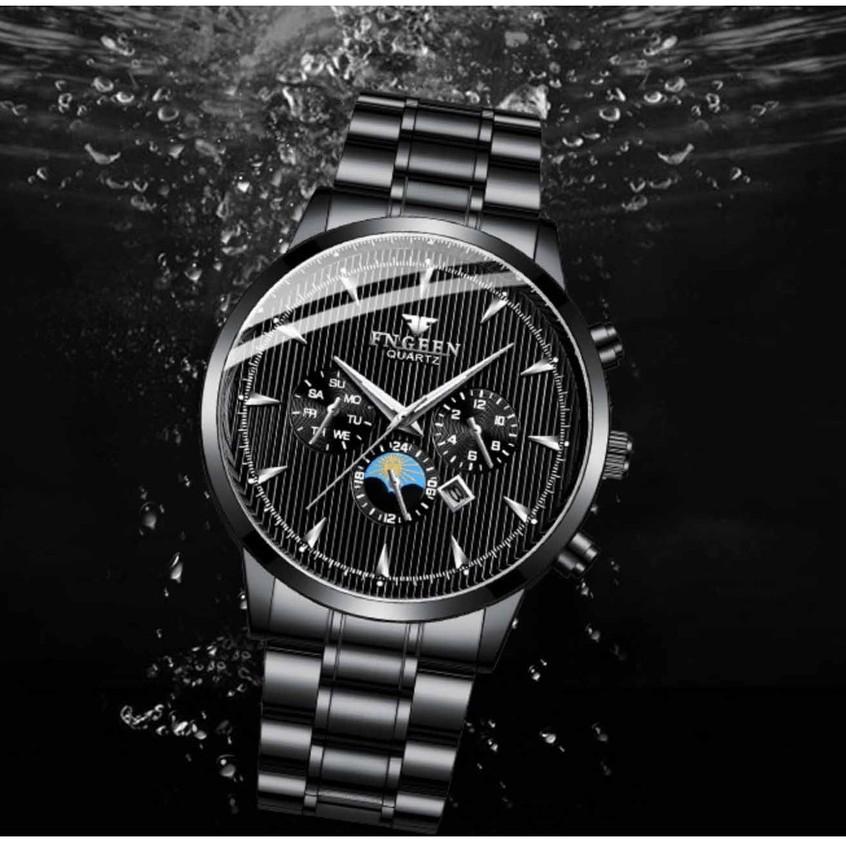 Đồng hồ nam FNGEEN dây thép bền màu, chống nước, kiểu dáng lịch lãm ( Tặng kèm tháo mắc, tỳ hưu Mã: AF26 )