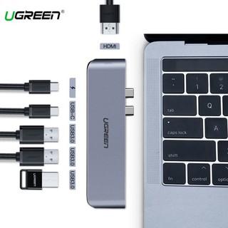 Cáp Chuyển USB-C Sang HDMI+ 3 USB 3.0 + USB-C + PD Chính hãng Ugreen 50963