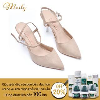 Giày sandal gót trong Merly 1245