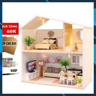 Mô hình nhà búp bê gỗ DIY Nhà búp bê lắp ghếp Ánh Sáng Giữa Màn Đêm M039 Toy World thumbnail