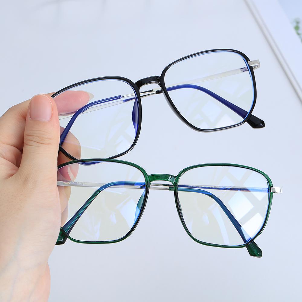 🌱EUPUS🍀 Retro Office Computer Goggles Vision Care Safety Goggles Blue Light Blocking Glasses Anti Eyestrain Square Frame Unisex Eyewear Radiation...
