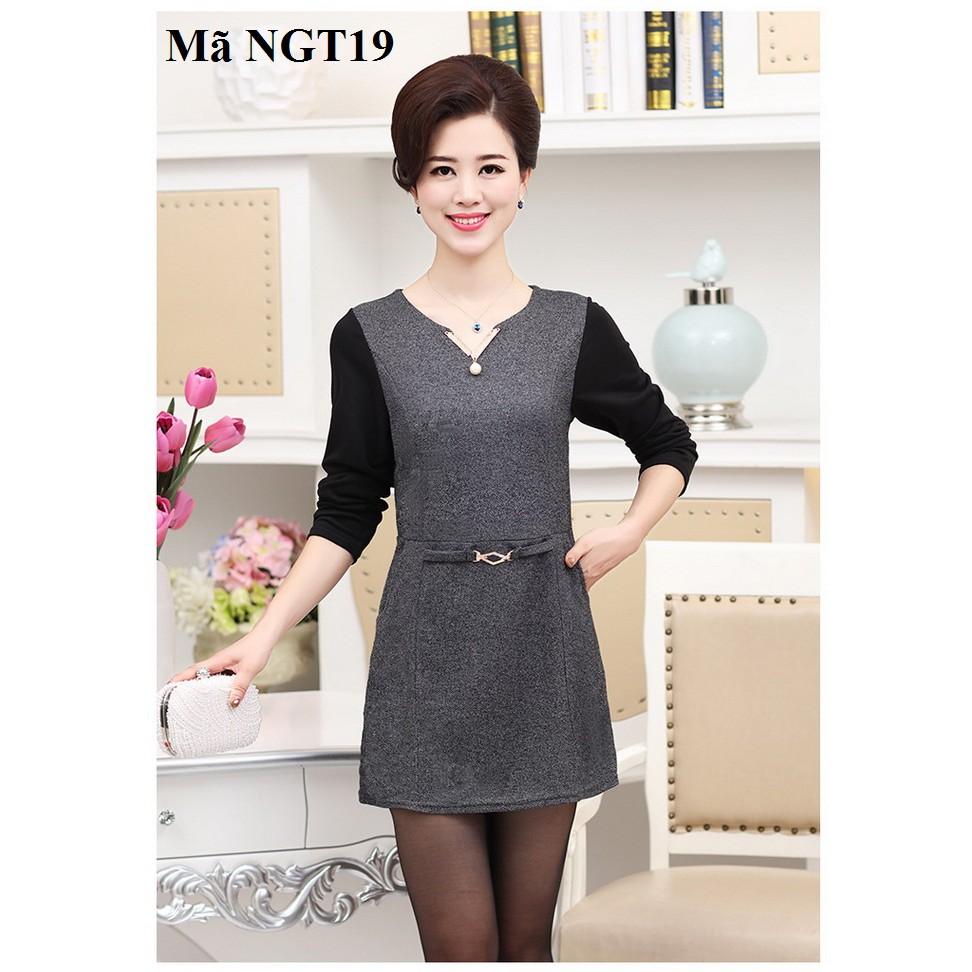 13930145 - Váy, đầm cho người trung niên, người lớn tuổi NGT19
