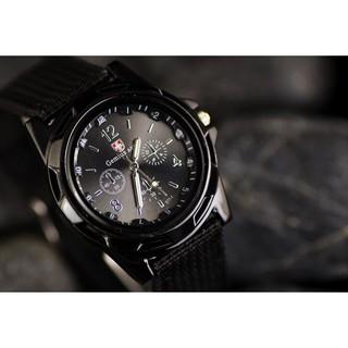 Đồng hồ nam Dotime đeo tay thời trang mặt tròn dây dù trẻ trung ZO72