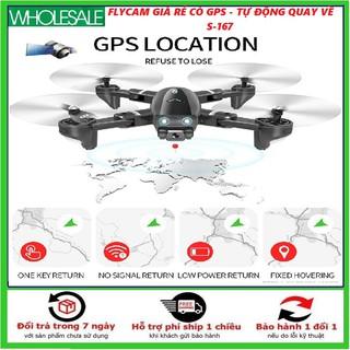 Máy bay camera 4k flycam mini giá rẻ điều khiển từ xa quay phim, chụp ảnh, chống rung kết nối wifi - S167