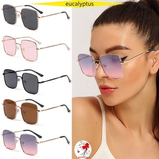 🌱EUPUS🍀 Fashion Glitter Eyeglasses Computer Eye Protection Anti-Blue Light Glasses Women Portable Oversized Square Vintage Ultra Light Frame