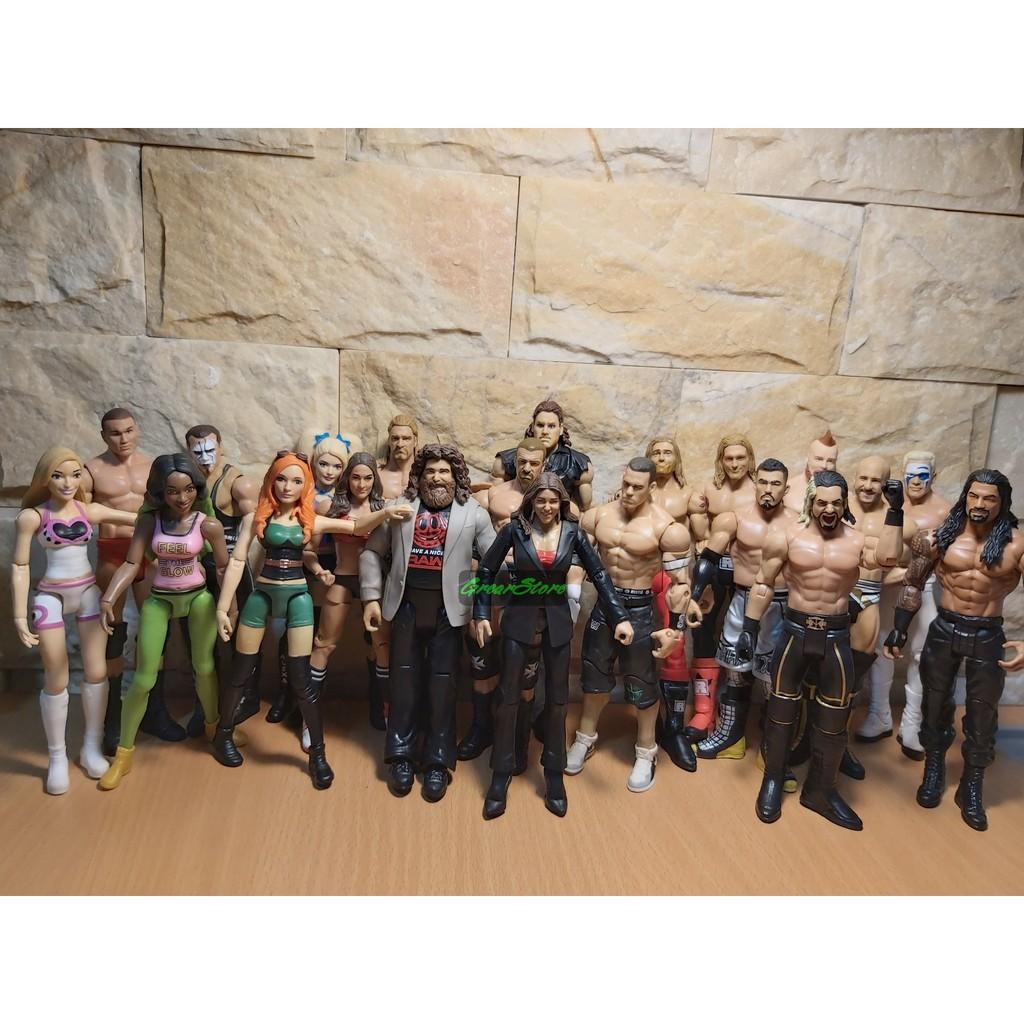 ( CHẤT, HÀNG CÓ SẴN ) MÔ HÌNH VÕ SĨ ĐẤU VẬT WWE CỬ ĐỘNG ĐƯỢC