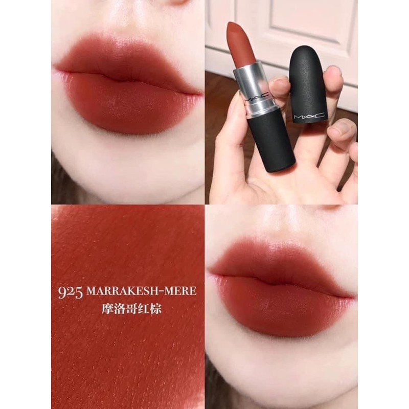 CHÍNH HÃNG - Son MAC powder kiss màu 925 Marrakesh mere - Son thỏi Nhãn  hiệu M.A.C | MuaDoTot.com