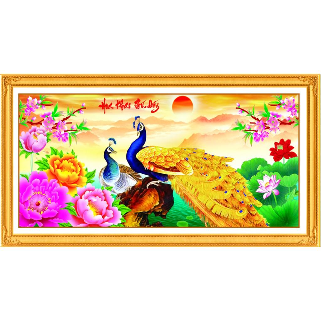 Tranh thêu chữ thập kết hạt cườm, hát đá nhụy và đuôi công Hoa Khai Phú Quý - 3262656 , 658522316 , 322_658522316 , 261000 , Tranh-theu-chu-thap-ket-hat-cuom-hat-da-nhuy-va-duoi-cong-Hoa-Khai-Phu-Quy-322_658522316 , shopee.vn , Tranh thêu chữ thập kết hạt cườm, hát đá nhụy và đuôi công Hoa Khai Phú Quý