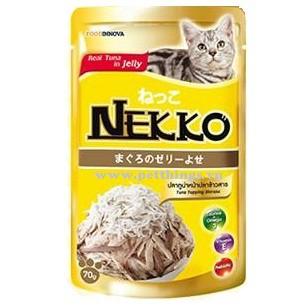 Pate Nekko cho mèo vị cá ngừ và cá cơm - dạng thạch ( 70g )
